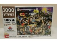 New Puntastic Puzzles Movie Visual Puns 1000 Piece Jigsaw Puzzle