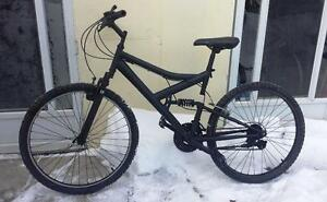 Mountain Bike For Sale, FULL SUSPENSION Raleigh BLACK , 20-Inch Frame, 21-Speed, 26-inch tires,