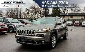 2017 Jeep Cherokee LIMITED 4X2, REMOTE START, BACKUP CAM, GPS NA