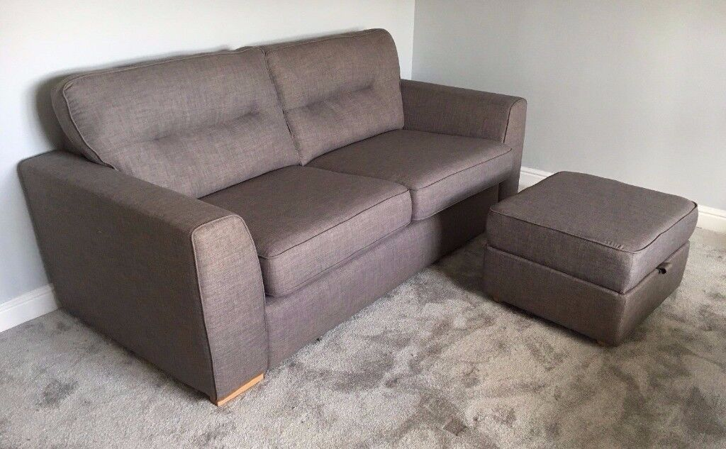 Brand new DFS Sofa & footstool worth £699