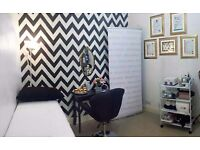 Beautifully decorated Beauty Treatment Room for Self-Employed Beauty Therapist for rent