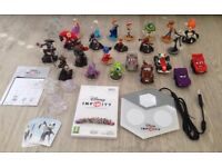 HUGE Disney Infinity Wii Bundle - Figures, Story Crystals, Code Cards, Portal