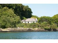 Stunning riverside house near Falmouth - with own mooring - sleeps 6