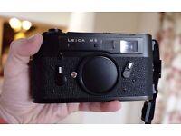 Leitz Leica M5 Black Chrome 2 Lug Rangefinder Film Camera