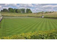 Bowling green grass cutter
