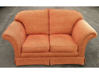 2 seater brown sofa in good condition, Free delivery available in Leicester