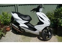 VGC YAMAHA AEROX YQ 50 CC SCOOTER MOPED 11MTHS MOT SPORTS ROSSI WHEELS NEW BRAKES RIDES LOVELY