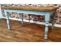 5ft Rustic Chunky European Red Oak Top Dining Kitchen Table Antique Manor House Finish Full Stave for sale  Twickenham, London