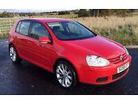 """2008 """"58"""" Volkswagen Golf 2.0 SDi DIESEL five door hatch in Red ,turbine alloys, Mot May 2017 hist"""
