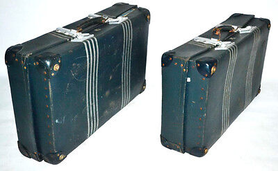 A pair of Vintage 1940's REVELATION London Expanding Suitcases Trunks [PL3029]