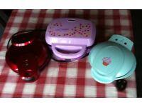 CUPCAKE MAKER - MINI CUPCAKE MAKER - DOUGHNUT MAKER - ALL 3 FOR £ 20