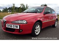 Beautiful 2006 Alfa Romeo 147 1.6 3 door in Rosso Red/ suede int, serv hist inc belt changes LOVELY!
