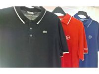 XXL Lacoste & Sergio Tacchini Polo Shirts