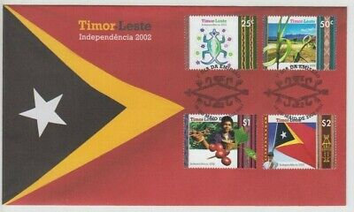 Stamps 2002 East Timor Independence set of 4 first day cover, uncommon