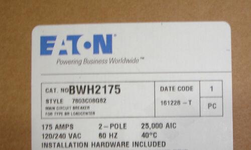New Challenger Westinghouse Cutler Hammer BWH2175 175 Amp Main Circuit Breaker