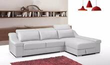 【Brand New】 LD494 Leather Corner Sofa with storage Nunawading Whitehorse Area Preview
