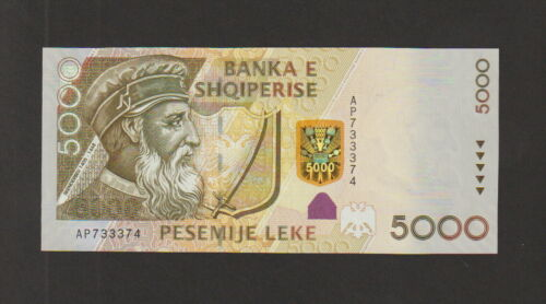 Albania 5000 Leke Banknote 2007 Choice Uncirculated Condition Cat-75-A-3374