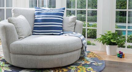 Plush Snuggle Chair Size