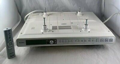 SONY ICF-CD553RM  Am/Fm Stereo CD KITCHEN mount CLOCK RADIO COMPLETE w/ Remote