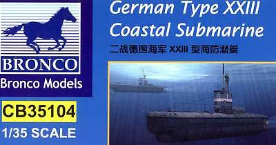 Bronco - German U-XXIII Coastal Submarine Küsten-U-Boot 1:35 Modell-Bausatz kit