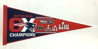 6 Time 6x Superbowl World Champions New England Patriots Pennant Dynasty FREESHP - Patriots Pennant