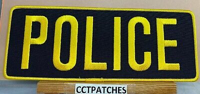 POLICE BACK PANEL BLACK YELLOW LETTERS LARGE10 5/8