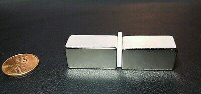 2 Neodymium N52 Grade Block Magnet Super Strong Rare Earth Bar 1 X 12 X 12