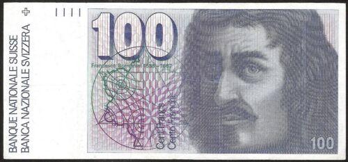 SWITZERLAND 100 FRANKEN (1984)  P:57  XF