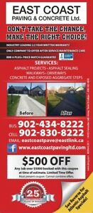 East Coast Paving Booking Fast (coupon available)