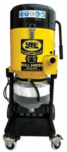 SASE Industrial HEPA Vacuum Bull 240 EBS Concrete Vac 224 CFM 110v