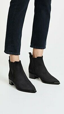 NWOB ACNE STUDIOS Jensen Black Suede Chelsea Boots Pointy Toe IT 39 / US 8.5
