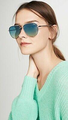 NWT Quay Australia x Desi Perkins High Key Mini Rimless Sunglasses in (High Key Gold)