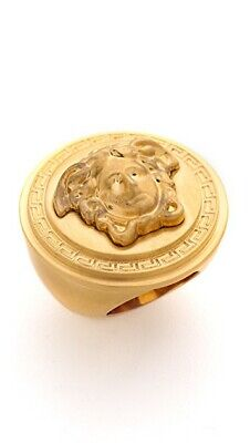 BRAND NEW IN BOX VERSACE HUGE MEDUSA GOLD RING SIZE 13 MAY FIT SIZE 15