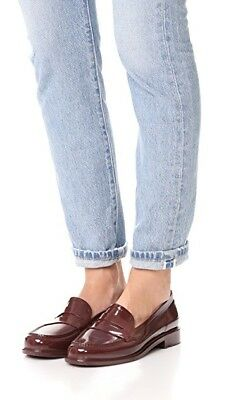 New Hunter Waterproof Penny Loafers rain boot shoes burgundy dulse womens Size 9
