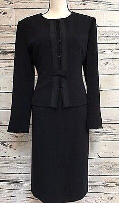 Talbots Two-Piece Dress Jacket Suit, Navy Blue, Size (Two Piece Dress Suit)