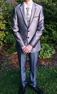 Men's/Teen Silver Suit