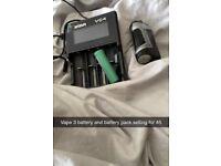 Geek vape and battery pack