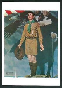 Boys-Scouts-of-America-Disegno-di-Norman-Rockwell-cartolina-cm-10-5-x-15-6