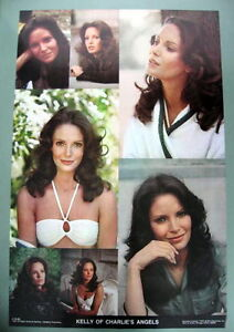 CHARLIE'S ANGELS JACLYN SMITH (KELLY) ORIGINAL 1977 TV SHOW CAST VINTAGE POSTER