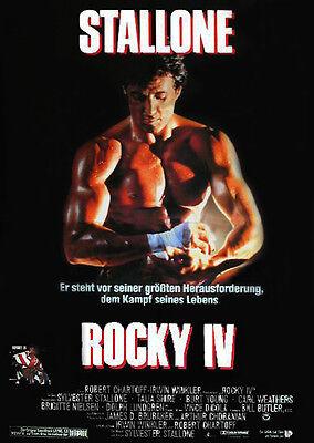 ROCKY IV Sylvester Stallone Talia Shire Dolph Lundgren Filmplakat A1 GEROLLT '86 online kaufen