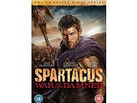 Various dvd boxsets (Spartacus, MASH, Fame, etc)