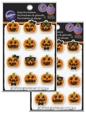 2 Wilton Cupcake Pumpkin Jack-o-Lantern Cup Cake Decorating Kit 2Halloween](Halloween Cup Cake)