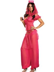 Ladies Princess Jasmine Belly Dancer Aladdin Arabian Sexy Fancy Dress Costume