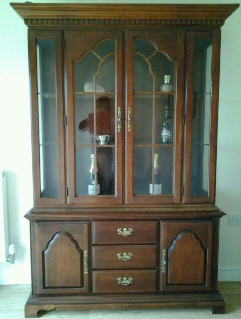 Mahogony dresser and matching sideboard.