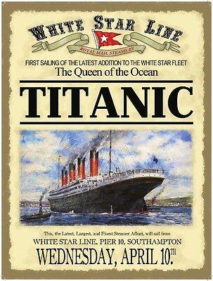 White Star Line Titanic Advert A3 Poster Reprint