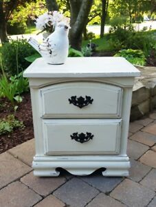 Painted Shabby Chic End Night Table - Cute as a button!