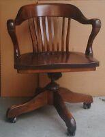 Chaise de bureau vintage circa 1930