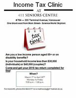 411 Seniors Centre Society's Income Tax Clinic