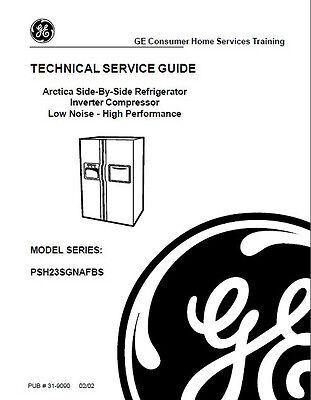 One Of Various GE Refrigerator Service & Repair Manuals (Refrigerator Manuals)