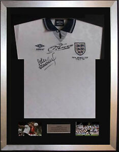 *2100+ SOLD* Frame For Any Signed Football Shirt and  2 photos Landscape